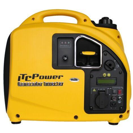 ITCPOWER - Generador Inverter 2,0 kw/2,2 Kw. Unicamente 22 kg. Silencioso. Corriente 100% estable