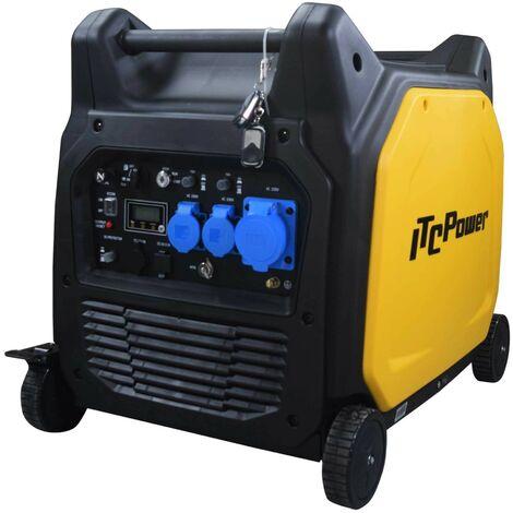 ITCPOWER - Generador Inverter 5/5,2 Kw. Unicamente 75 kg. Silencioso. Corriente 100% estable
