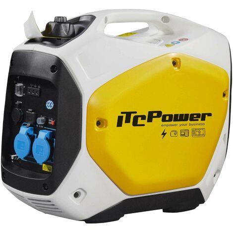 ITCPOWER - IT-GG22IGenerador Inverter 1,6/2,0 Kw. Unicamente 22 kg. Silencioso. Corriente 100% estable