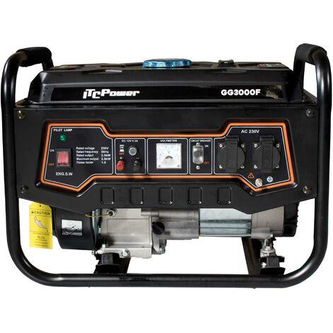 ITCPOWER - IT-GG3000F Generador Gasolina 2,5/2,8 Kw con motor ITCPower IC200 de 6,5 hp. Depósito 15 Litros