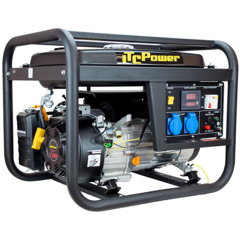 ITCPOWER - IT-GG4100L Generador Gasolina 3/3,3 Kw con motor ITCPower IC220 de 7,5 hp. Depósito 15 Litros
