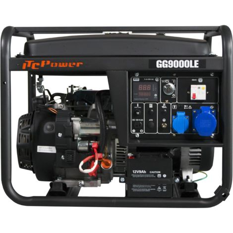 ITCPOWER - IT-GG9000LE Generador Gasolina 6,0/6,5 Kw con motor ITC Power IC420E de 15 hp. Arranque eléctrico. Panel digital 5 funciones