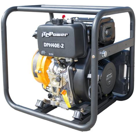 """ITCPOWER - Motobomba 1,5"""" (40mm) Aguas Limpias alta presion doble turbina. Motor ITCPower 10hp y accesorios incluidos. Arranque electrico."""