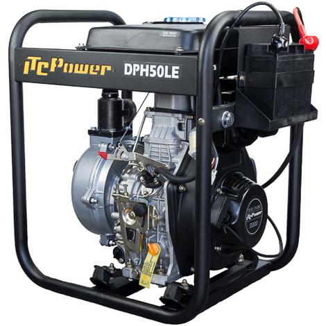 """ITCPOWER - Motobomba 1,5"""" (40mm) Aguas Limpias alta presion. Motor ITCPower 6hp Diesel. Accesorios incluidos. Arranque electrico."""