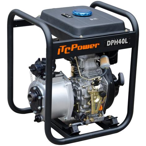 """ITCPOWER - Motobomba 1,5"""" (40mm) Aguas Limpias alta presion. Motor ITCPower 6hp y accesorios incluidos"""