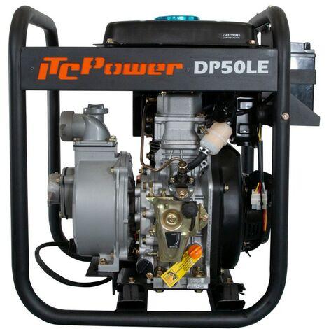"""ITCPOWER - Motobomba 2"""" (50mm) Aguas Limpias. Motor ITCPower 4,2hp y accesorios incluidos. Arranque eléctrico."""
