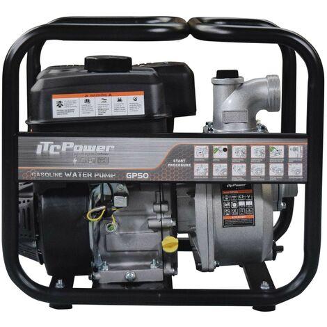 "ITCPOWER - Motobomba 2"" (50mm) Aguas Limpias. Motor ITCPower 7hp y accesorios incluidos"