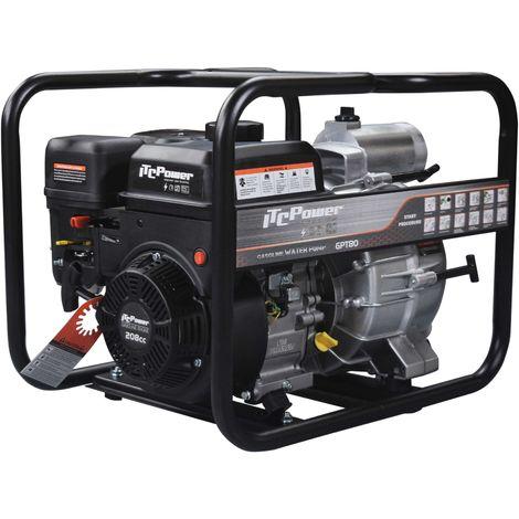 """ITCPOWER - Motobomba 3"""" (50mm) Aguas cargadas. Motor ITCPower 7hp y accesorios incluidos"""