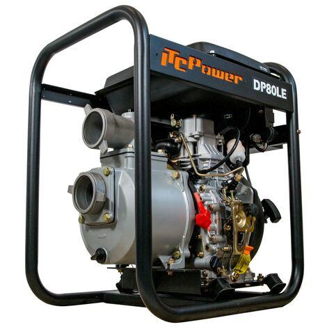 """ITCPOWER - Motobomba 3"""" (80mm) Aguas Limpias. Motor ITCPower 6hp y accesorios incluidos. Arranque eléctrico."""