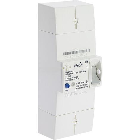 Itron - Disjoncteur EDF 15/45A 230V Instantané