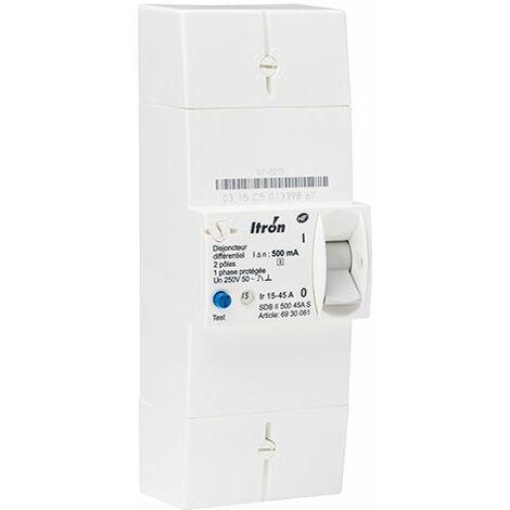 Itron - Disjoncteur EDF 15/45A 230V Sélectif