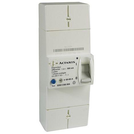 Itron disyuntor 400018 rama 90A EDF 2P - Dif 500mA - instant