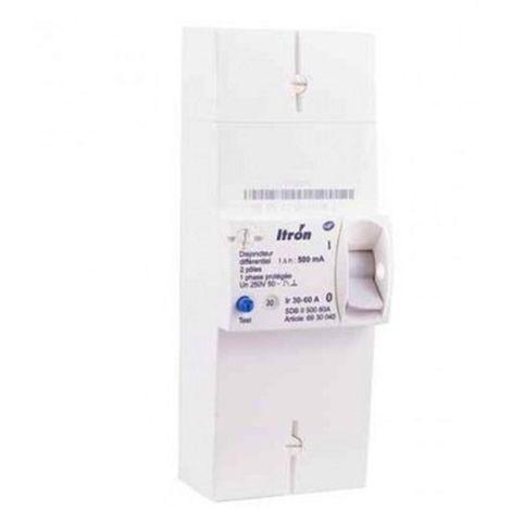 Itron disyuntor 400024 rama EDF 2P 60A - NO diferencial - SDB II 000 60A