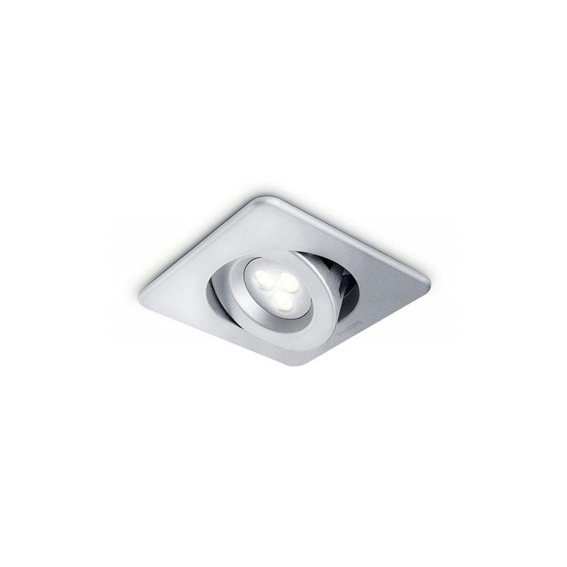 Ixion Ixion - Spot singolo incasso LED quadrato alluminio orientabile 12 cm