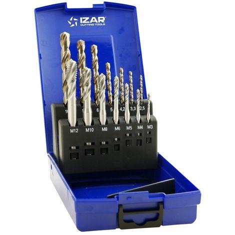 IZAR 21802 - Macho maquina helicoidal hsse DIN371 (m) set+broca hsse