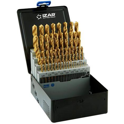 IZAR 27135 - Juego brocas DIN338n 49-uds. tin 1-13x0.25 hss+tin (1010)