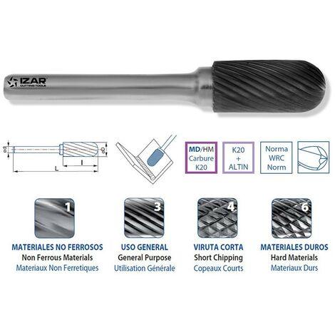 IZAR 55700 - fraise rotative radiale pour métal dur 19.00x06.00mm den.3