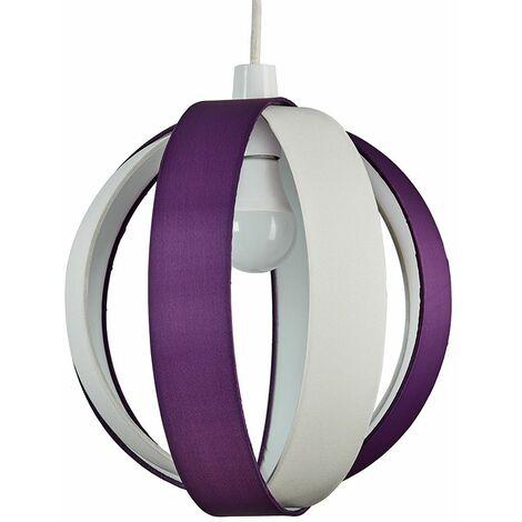 J90 Globe Ceiling Pendant Light Shade + 6W BC B22 LED Globe Bulb - Red
