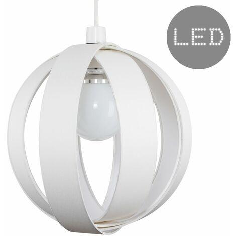 J90 Globe Ceiling Pendant Light Shade + 6W BC B22 LED Globe Bulb - Red - Red