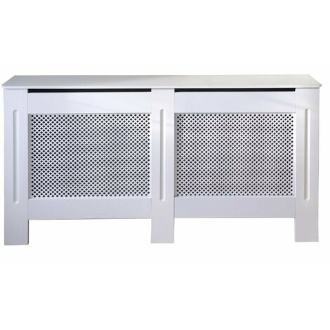 Jack Stonehouse Diamond Lattice Grill White Painted Radiator Cover - Large