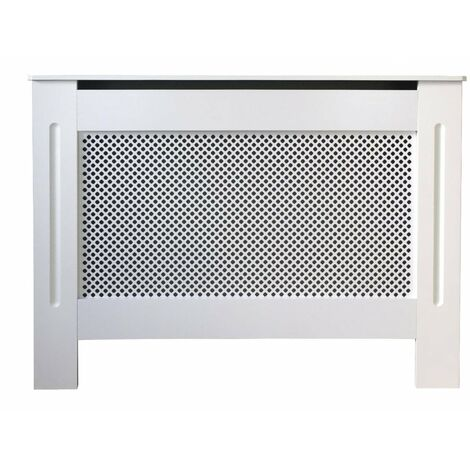 Jack Stonehouse Diamond Lattice Grill White Painted Radiator Cover - Small