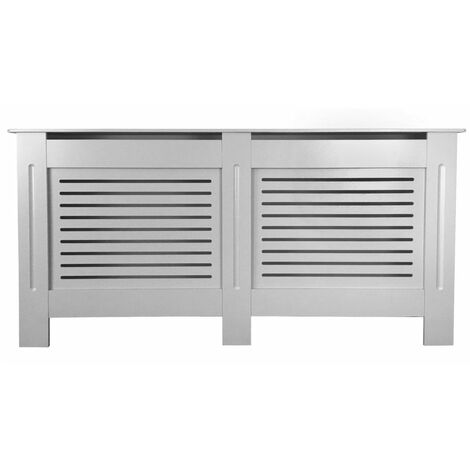 Jack Stonehouse Horizontal Grill French Grey Painted Radiator Cover - Extra Large