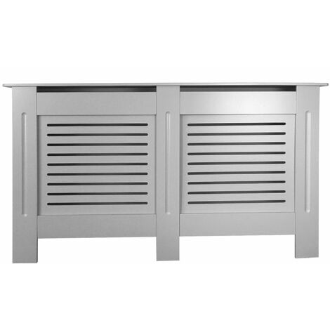 Jack Stonehouse Horizontal Grill French Grey Painted Radiator Cover - Large