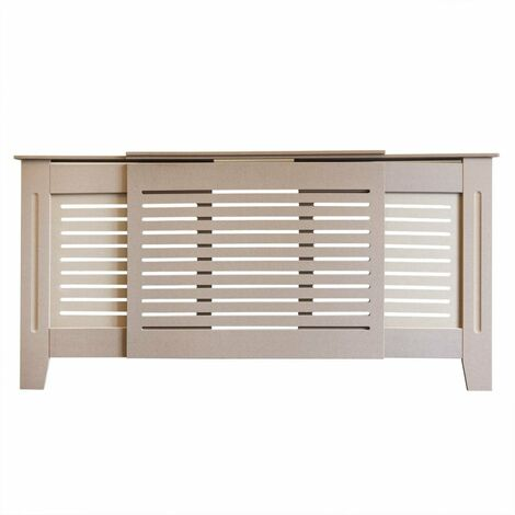 Jack Stonehouse Horizontal Grill Unfinished Radiator Cover - Adjustable - Unpainted