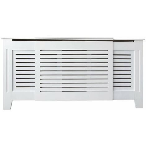 Jack Stonehouse Painted Radiator Cover Radiator Cabinet Modern Design MDF Adjustable in White