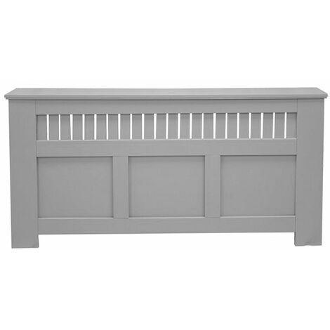 Jack Stonehouse Panel Grill French Grey Painted Radiator Cover - Extra Large