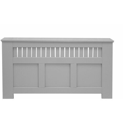 Jack Stonehouse Panel Grill French Grey Painted Radiator Cover - Large