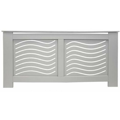 Jack Stonehouse Wave Grill French Grey Painted Radiator Cover - Extra Large