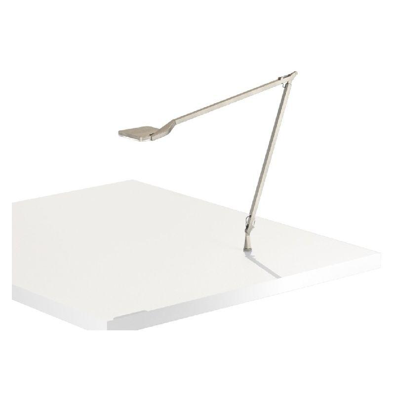 Homemania - Jackie Tischlampe - vom Schreibtisch, Buero, Nachttisch - Grau aus Aluminium, 10,5 x 59 x 53 cm, 1 x LED, 10W, 526lm, 3000K, 220-240V