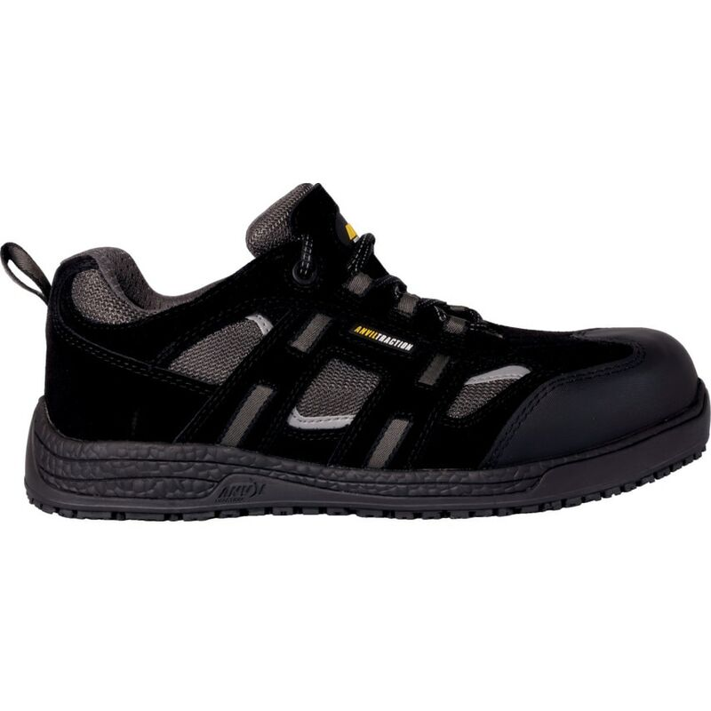 Image of Anvil Traction Jackson Black Non-metallic Safety Trainers - Size 7