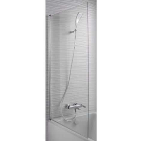 Jacob Delafon - Baignoire acrylique Elise + pare bain Struktura, 180 X 80