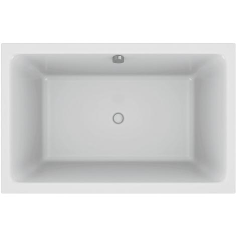 Jacob Delafon - Baignoire bain douche compacte Capsule installation en niche avec pare bain et tablier