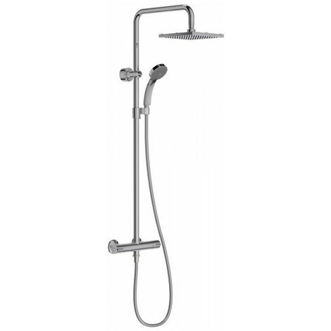 JACOB DELAFON Colonne thermostatique JULY avec douche de tete carrée E5523-CP