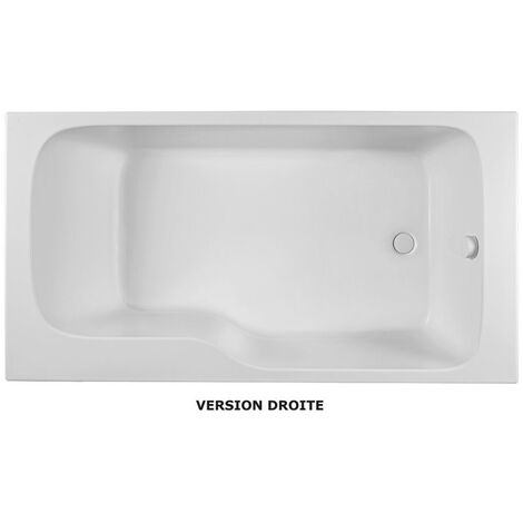Jacob Delafon - Ensemble baignoire bain douche + pare bain Malice
