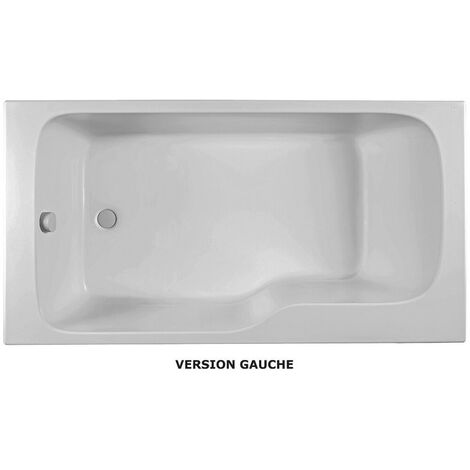 Jacob Delafon - Ensemble baignoire bain douche + pare bain + tablier Malice