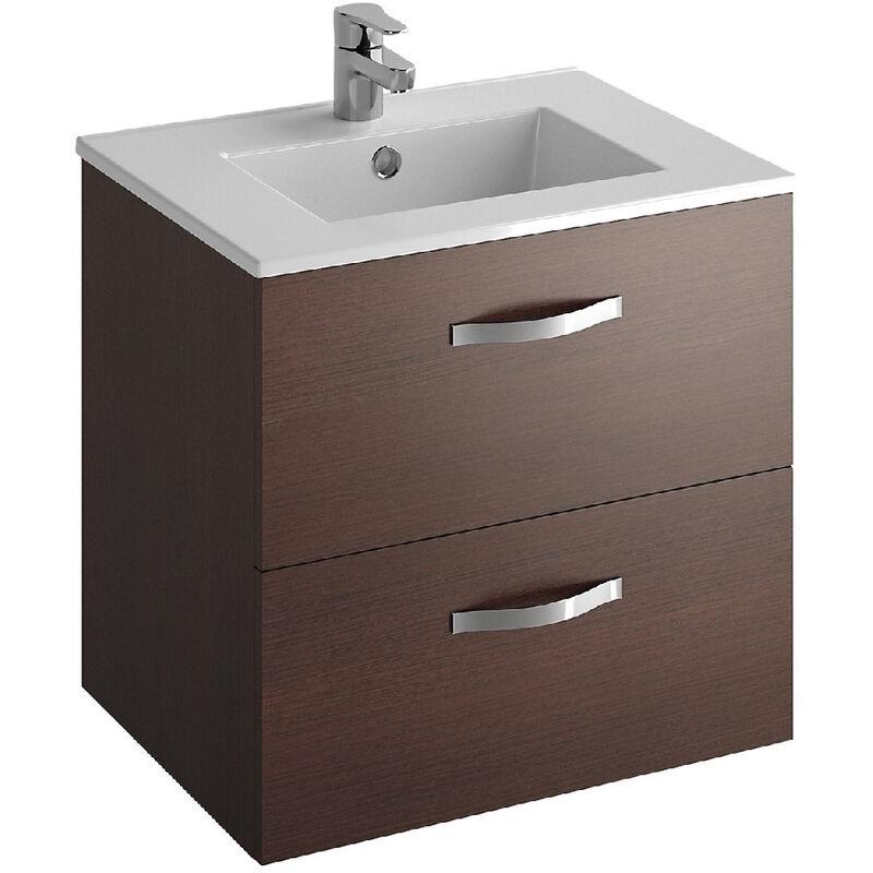 Jacob delafon ensemble meuble avec plan vasque ola weng 60 2 tiroirs ebp1340 e14 - Meuble vasque jacob delafon ...