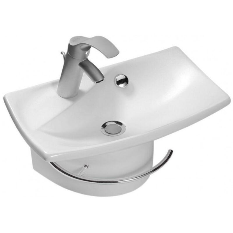 jacob delafon lavabo Jacob Delafon - Lave-mains et porte serviette Escale - E1025-00_E75638-CP