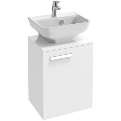 Jacob Delafon meuble lave-mains Struktura avec mitigeur Aimé chrome, gris anthracite