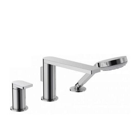 Jacob Delafon - Mitigeur bain-douche 3 trous sur gorge - collection Composed finition titanium