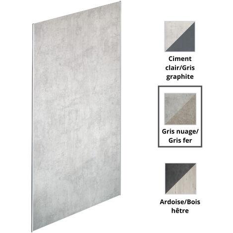 Jacob Delafon - panneaux muraux Panolux en plusieurs couleurs, 233,5, nuage/gris fer