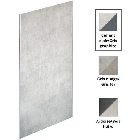 Jacob Delafon - panneaux muraux Panolux en plusieurs couleurs, 255, graphite/ciment clair