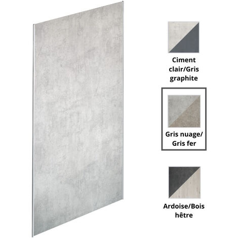 Jacob Delafon - panneaux muraux Panolux en plusieurs couleurs, 255, nuage/gris fer