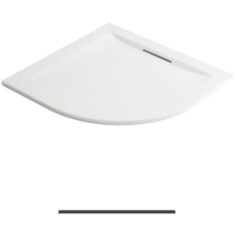 Jacob Delafon - Receveur 1/4 de rond Flight Pure à encastrer ou à poser, blanc, 90 x 90, adherence forte / classe C / PN24
