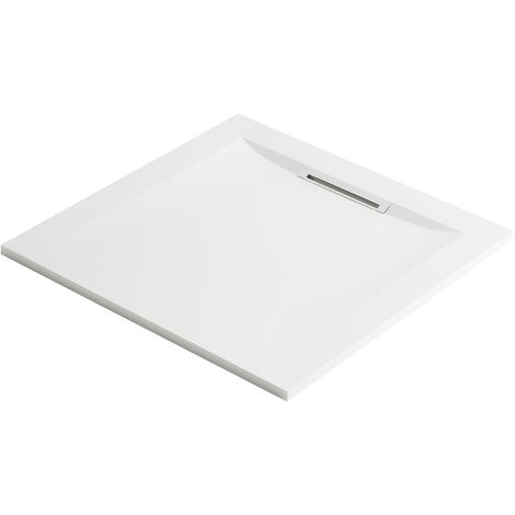 Jacob Delafon - Receveur à encastrer ou à poser Flight Pure blanc, 80 x 80, adherence faible / PN6
