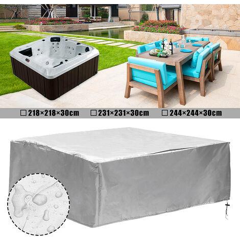 Jacuzzi SPA Cubierta de bañera al aire libre Cubierta antipolvo 231x231x90cm