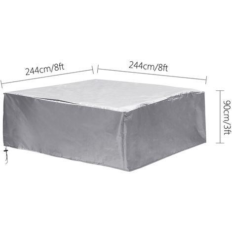 Jacuzzi SPA Cubierta para bañera al aire libre Cubierta antipolvo 244x244x90cm